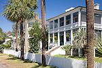 Lovely antebellum home on King Street in Beaufort, SC, a National Historic District.