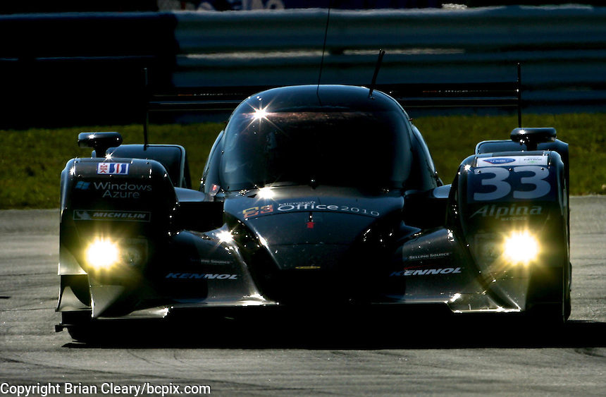 The #33 Honda Lola of Scot Tucker, Christophe Bouchut, and Joao Barbosa is shown in action early in the 12 Hours of Sebring, Sebring International Raceway, Sebring, FL, March 19, 2011.  (Photo by Brian Cleary/www.bcpix.com)