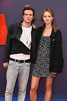 "LONDON, UK. June 16, 2019: Dougie Poynter & Maddie Elmer arriving for the ""Toy Story 4"" premiere at the Odeon Luxe, Leicester Square, London.<br /> Picture: Steve Vas/Featureflash"