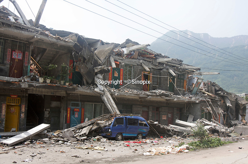 The sixth day after the 7.8 magnitude earthquake in Hanwang town, Mianzhu city, Sichuan, China. The earthquake happened at 14:28pm on 12 May 2008, with the epicenter in Wenchuan County, about 159km NW of Chengdu, Sichuan, China.