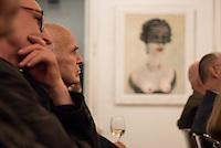 Vernissage zur Ausstellung von Gemaelden des Malers Thomas J. Richter in der Galerie Pankow in Berlin am Dienstag den 8. September 2015.<br /> 8.9.2015, Berlin<br /> Copyright: Christian-Ditsch.de<br /> [Inhaltsveraendernde Manipulation des Fotos nur nach ausdruecklicher Genehmigung des Fotografen. Vereinbarungen ueber Abtretung von Persoenlichkeitsrechten/Model Release der abgebildeten Person/Personen liegen nicht vor. NO MODEL RELEASE! Nur fuer Redaktionelle Zwecke. Don't publish without copyright Christian-Ditsch.de, Veroeffentlichung nur mit Fotografennennung, sowie gegen Honorar, MwSt. und Beleg. Konto: I N G - D i B a, IBAN DE58500105175400192269, BIC INGDDEFFXXX, Kontakt: post@christian-ditsch.de<br /> Bei der Bearbeitung der Dateiinformationen darf die Urheberkennzeichnung in den EXIF- und  IPTC-Daten nicht entfernt werden, diese sind in digitalen Medien nach §95c UrhG rechtlich geschuetzt. Der Urhebervermerk wird gemaess §13 UrhG verlangt.]