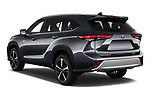 Car pictures of rear three quarter view of 2021 Toyota Highlander Premium-Plus 5 Door SUV Angular Rear