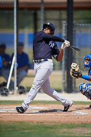 New York Yankees designated hitter Timmy Robinson (33) follows through on a swing during a minor league Spring Training game against the Toronto Blue Jays on March 30, 2017 at the Englebert Complex in Dunedin, Florida.  (Mike Janes/Four Seam Images)