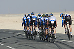Garmin-Cervelo team warms up before the 2nd Stage of the 2012 Tour of Qatar an 11.3km team time trial at Lusail Circuit, Doha, Qatar. 6th February 2012.<br /> (Photo Eoin Clarke/Newsfile)