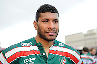 Man of the Match Steve Mafi of Leicester Tigers after the LV= Cup Final match between Leicester Tigers and Northampton Saints at Sixways Stadium, Worcester on Sunday 18 March 2012 (Photo by Rob Munro, Fotosports International)