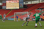 Darlington 1 Lincoln City 1, 09/04/2007. The Darlington Arena, League Two. Photo by Paul Thompson. The Darlington Arena was a 25,000 capacity white elephant of a stadium. Darlington left Feethams for the Arena in 2003, usually playing in front of 2000 people. The cost of the arena caused the club to go into administration three times. Eventually, the club decided to leave the arena after nine years following the 2011–12 season. Darlington currently groundshare the Blackwell Meadows ground with the town's rugby club, and play in National League North.