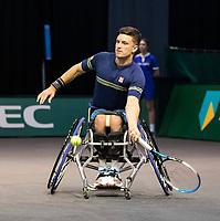 Rotterdam, The Netherlands, 6 march  2021, ABNAMRO World Tennis Tournament, Ahoy,  <br /> Semi final wheelchair: Alfie Hewett (GBR) / Gordon Reid (GBR) vs. Martin de la Puente (ESP) / Gustavo Fernandez (ARG).<br /> Photo: www.tennisimages.com/