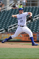Liam Hendriks #32 of the Omaha Storm Chasers throws against the Las Vegas 51s at Werner Park on August 17, 2014 in Omaha, Nebraska. The Storm Chasers  won 4-0.   (Dennis Hubbard/Four Seam Images)
