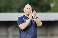 Sutton United manager Matt Gray celebrates at the end of the match and thanks the fans during Sutton United vs Stevenage, Sky Bet EFL League 2 Football at the VBS Community Stadium on 11th September 2021