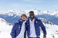 CRANS-MONTANA, SWITZERLAND - MAY 28: Brenden Aaronson, Daryl Dike of the United States at Pointe de la Plaine Morte on May 28, 2021 in Crans-Montana, Switzerland.