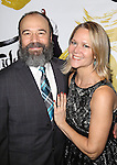 Danny Burnstein and Rebecca Luker attends the Broadway Opening Night Performance After Party for 'Fiddler On The Roof'  at Gotham Hall on December 20, 2015 in New York City.