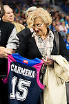 Madrid Mayor Manuela Carmena during Liga Endesa ACB at Barclays Center in Madrid, October 11, 2015.<br /> (ALTERPHOTOS/BorjaB.Hojas)