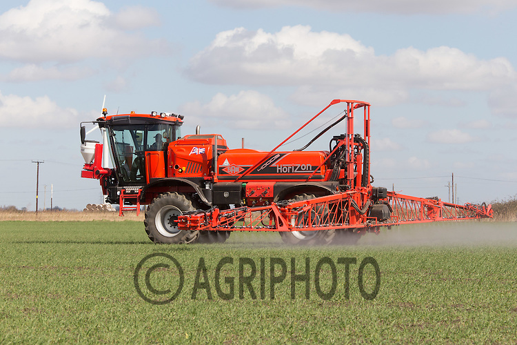 Applying herbicide to Winter Wheat in the Lincolnshire fens <br /> Picture Tim Scrivener 07850 303986 <br /> scrivphoto@btinternet.com<br /> ….covering agriculture in the UK….