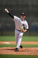 New York Yankees pitcher Nolan Martinez (11) delivers a pitch during an Instructional League game against the Pittsburgh Pirates on September 29, 2017 at the Yankees Minor League Complex in Tampa, Florida.  (Mike Janes/Four Seam Images)