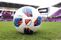 Orlando, Florida - Saturday January 13, 2018: 2018 MLS adidas Nativo match ball. Match Day 1 of the 2018 adidas MLS Player Combine was held Orlando City Stadium.