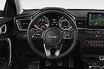 Car pictures of steering wheel view of a 2019 KIA Ceed Fusion Door Hatchback Steering Wheel