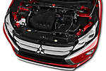 Car stock 2018 Mitsubishi Eclipse Cross ES 2WD 5 Door SUV engine high angle detail view