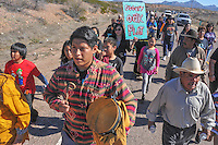 SAN CARLOS APACHE MARCH ON OAK FLAT
