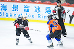 Terence Chim (l) of Gaggia Empire and Connor Daly of Principal battle for the puck during the Principal Standard League match between Gaggia Empire vs Principal at the Mega Ice on 29 November 2016 in Hong Kong, China. Photo by Marcio Rodrigo Machado / Power Sport Images