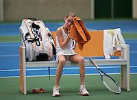 20131201,Netherlands, Almere,  National Tennis Center, Tennis, Winter Youth Circuit, Julie Belgraver<br /> Photo: Henk Koster