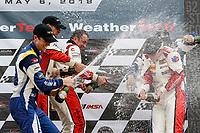 #73 MINI JCW Team, MINI JCW, ST: Mat Pombo, Mike LaMarra, podium, #52 MINI JCW Team, MINI JCW, ST: Mark Pombo, Colin Mullan, #81 BimmerWorld Racing, BMW 328i, ST: Nick Galante, Devin Jones, champagne