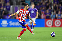 Orlando, FL - Wednesday July 31, 2019:  Mario Hermoso #22 during the Major League Soccer (MLS) All-Star match between the MLS All-Stars and Atletico Madrid at Exploria Stadium.