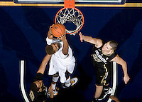 Richard Solomon of California dunks the ball during the game against Colorado at Haas Pavilion in Berkeley, California on January 12th, 2012.   California defeated Colorado, 57-50.