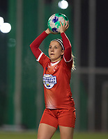 Taika De Koker (20) of Femina White Star Woluwe pictured during a female soccer game between FC Femina White Star Woluwe and Eendracht Aalst on the sixth matchday in the 2021 - 2022 season of Belgian Scooore Womens Super League , friday 8 th of october 2021  in Woluwe , Belgium . PHOTO SPORTPIX | KRISTOF DE MOOR