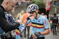 Philippe Gilbert (BEL/Quick Step floors) post-finish<br /> <br /> Men Elite Road Race<br /> <br /> UCI 2017 Road World Championships - Bergen/Norway