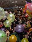 TORRINGTON, CT - 31 DECEMBER 2019 - 123119JW04.jpg --  Parents and children play with balloons the balloon drop during the New Years Eve celebration at KidsPlay Children's Museum Tuesday morning. Jonathan Wilcox Republican-American