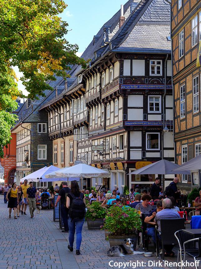 Wirtshaus Butterhanne und Brauhaus, Goslar, Niedersachsen, Deutschland, Europa, UNESCO-Weltkulturerbe<br /> Inn Butterhanne and Brauhaus, Goslar, Lower Saxony,, Germany, Europe, UNESCO Heritage Site