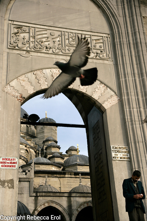 New Mosque entrance, Istanbul, Turkey