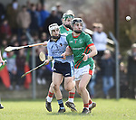 Fionn Slattery of Scariff Community College in action against Ben Delaney and Keilan Kelly of St Fergal's College during their All-Ireland Colleges final at Toomevara. Photograph by John Kelly.