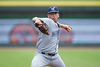 Wilmington Blue Rocks starting pitcher Luis Rico (28) in action against the Winston-Salem Dash at BB&T Ballpark on July 29, 2015 in Winston-Salem, North Carolina.  The Dash defeated the Blue Rocks 5-4 in game one of a double-header.  (Brian Westerholt/Four Seam Images)