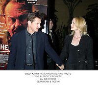 "©2001 KATHY HUTCHINS/HUTCHINS PHOTO.""THE PLEDGE"" PREMIERE.LA, CA 01/09/01.SEAN PENN & ROBYN"