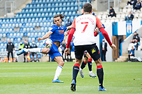 Miles Welch-Hayes of Colchester United has a shot at goal during Colchester United vs Oldham Athletic, Sky Bet EFL League 2 Football at the JobServe Community Stadium on 3rd October 2020