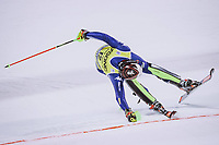22nd December 2020, Madonna di Campiglio, Italy; FIS Mens slalom world cup race;  Alex Vinatzer of Italy in action during his 2nd run of mens Slalom