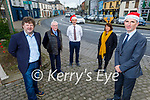 Members of the Abbeyfeale Community Council and local businesses. Front right: Denny Lyons. Back l to r: Maurice O'Connell (Chairperson of Abbeyfeale Community Council), Frank Dennison (Abbeyfeale Community Council), James Dennison (Sec of Abbeyfeale Community Council) and Pia Scannell (Tea and Tales).