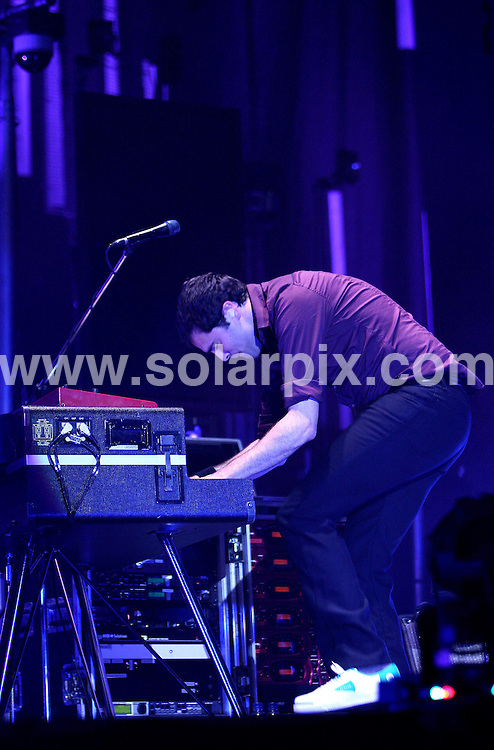 **ALL ROUND PICTURES FROM SOLARPIX.COM**.**WORLDWIDE SYNDICATION RIGHTS**.Keane perform at the O2 Arena, Greenwich Peninsula. 21_07_2007. The show was being recorded for a forthcoming  DVD release by the band...This pic: Tim Rice-Oxley..JOB REF:  4354     SSD     DATE: 21_07_2007.**MUST CREDIT SOLARPIX.COM OR DOUBLE FEE WILL BE CHARGED* *UNDER NO CIRCUMSTANCES IS THIS IMAGE TO BE REPRODUCED FOR ANY ONLINE EDITION WITHOUT PRIOR PERMISSION*
