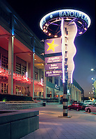 Bayou Place in Houston's Theater District  has restaurants and a movie theater. Houston, Texas