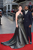 """David and Jessica Oyelowo<br /> at the London Film Festival premiere for """"A United Kingdom"""" at the Odeon Leicester Square, London.<br /> <br /> <br /> ©Ash Knotek  D3160  05/10/2016"""