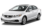 Front three quarter view of a 2013 Honda Civic Sedan EX Sedan