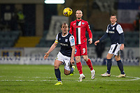 27th March 2021; Dens Park, Dundee, Scotland; Scottish Championship Football, Dundee FC versus Dunfermline; Paul McGowan of Dundee races away from Craig Wighton of Dunfermline Athletic