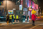 """© Joel Goodman - 07973 332324 . 15/12/2017. Manchester, UK. Police in Manchester's """" Gay Village """" .Revellers out in Manchester City Centre overnight during """" Mad Friday """" , named for historically being one of the busiest nights of the year for the emergency services in the UK . Photo credit : Joel Goodman"""