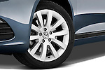 Tire and wheel close up detail view of a 2009 Volkswagen Scirocco