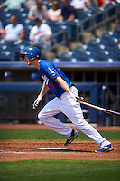 Tulsa Drillers outfielder Jeremy Rathjen (13) at bat during a game against the Midland RockHounds on June 3, 2015 at Oneok Field in Tulsa, Oklahoma.  Midland defeated Tulsa 5-3.  (Mike Janes/Four Seam Images)