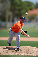 Baltimore Orioles Bobby Bundy (27) during a minor league Spring Training game against the Minnesota Twins on March 16, 2016 at CenturyLink Sports Complex in Fort Myers, Florida.  (Mike Janes/Four Seam Images)