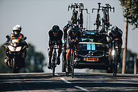 7th September 2021: Llandeilo, Wales:The AJ Bell Tour Of Britain 2021. Stage 3 Llandeilo to National Botanic Garden of Wales. Team Time Trial. Team DSM. DONOVAN Mark, COMBAUD Romain, EEKHOFF Nils, KANTER Max, NABERMAN Tim, ROCHE Nicolas.