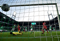 18th May 2020, WESERSTADION, Bremen, Germany; Bundesliga football, Werder Bremen versus Bayer Leverkusen; Leverkusens Kai Havertz (not in picture) scores for 1:2 for Leverkusen