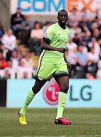 Yaya Toure of Manchester City during the Swansea City FC v Manchester City Premier League game at the Liberty Stadium, Swansea, Wales, UK, Sunday 15 May 2016